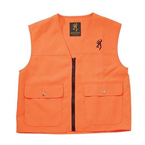 Mens Hunting Vest - Browning, Safety Blaze Overlay Vest, Blaze, Large