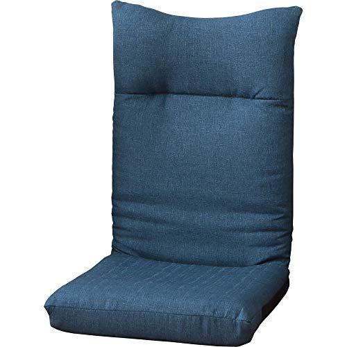 아이리스 플라자 좌석 의자 좌식의자 데님 블루 폭 약 46 × 깊이 약 58 × 높이 약 68cm 안락 YC-601