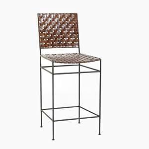 Amazon.com: William Sheppee Saddler Iron And Woven Leather Counter Stool:  Kitchen U0026 Dining