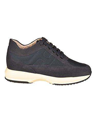 Blu camoscio in Uomo Interactive Hogan HXM00N00E10B2A9998 Sneaker STw6RxXq8