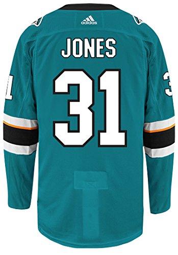 Amazon.com   Martin Jones San Jose Sharks Adidas Authentic Home NHL ... d1fd6eef5f58