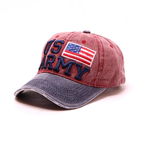 Unisex American Flag Patriot Hat Outdoor Hiking Camping Fishing Hat Outdoor Sun Protection UV Sun Hat Red (Tampa Bay Rays Pool)
