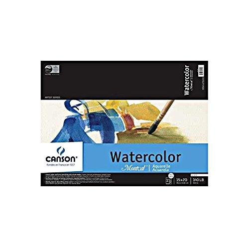"Canson Montval Watercolor Cold Press - 15 Sheet Block 6x9"""