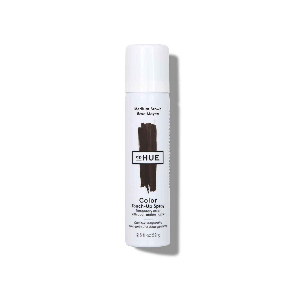dpHUE Color Touch-Up Spray - Medium Brown, 2.5 oz - Root Cover Up Spray with Dual-Action Nozzle for Precise Root Touch Up & Fast, Total Hair Cover - Gluten-Free, Vegan