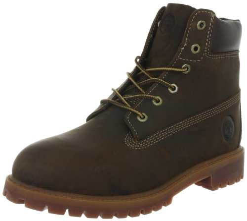Timberland Authentic - Botas de senderismo de cuero para niño marrón - Brown Smooth