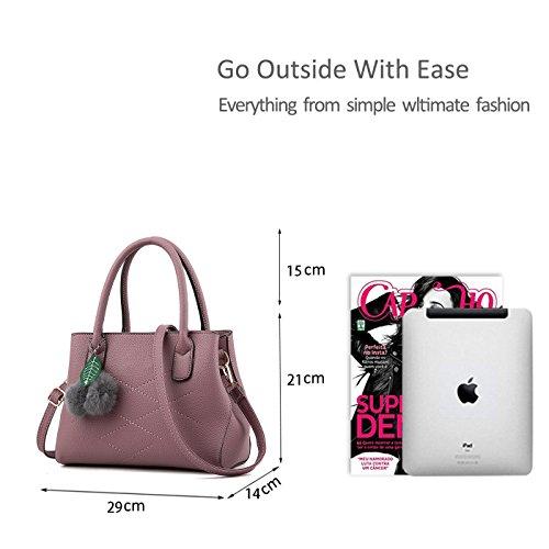 RUIREN Damen Umhängetasche Multifunktionstaschen, Schulter Handtaschen für Frauen Dunkelviolett