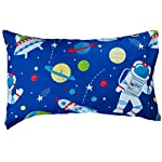 Bloomsbury-Mill-4-Piece-Toddler-Comforter-Set-Outer-Space-Rocket-Planet-Blue-Kids-Bedding-Set