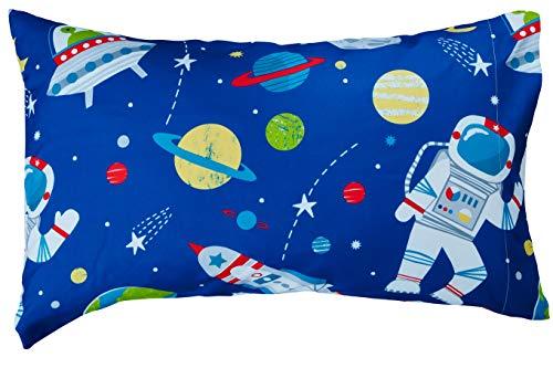Bloomsbury Mill - 4 Piece Toddler Comforter Set - Outer Space, Rocket & Planet - Blue - Kids Bedding Set 4