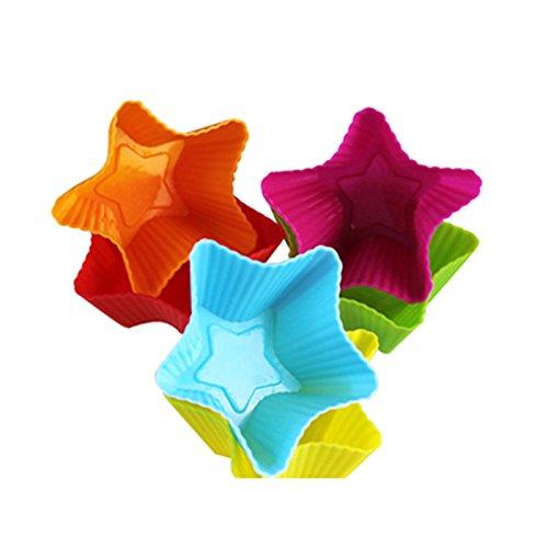 HuntGold 5X 3D weich Eis Behälter Slicone Rubber Mold Jelly Pudding Kuchen Maker DIY Cocktail Bars (gelegentliche Farbe)