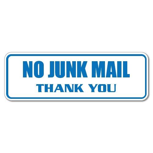 CafePress No Junk Mail Sticker - Rectangle Bumper Sticker Car Decal Wide Rectangular