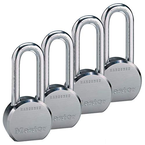Master Lock - (4) High Security Pro Series Keyed Alike Padlocks 6230NKALH-4 w/ BumpStop Technology (Master Commercial Padlock)