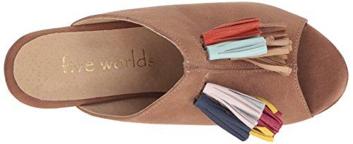Fem Världar Av Cordani Womens Caliente Plattform Sandal Kakao
