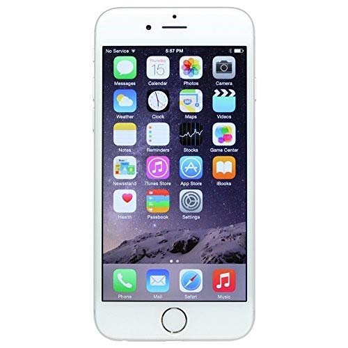 Apple iPhone 6, GSM Unlocked, 16 GB Unlocked, Silver (Renewed) (Gsm Apple Phones)
