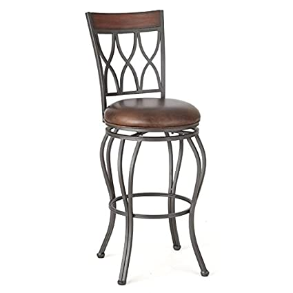 Peachy Amazon Com Bowery Hill 30 Faux Leather Swivel Bar Stool In Pdpeps Interior Chair Design Pdpepsorg