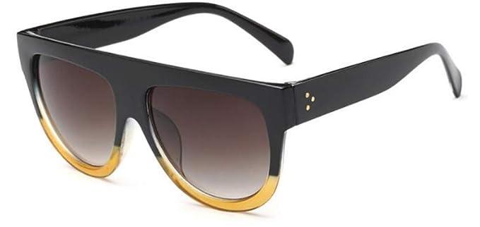 MINGMOU Gafas De Sol De Aviación Planas para Mujer Gradient ...