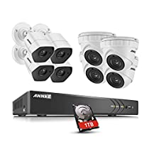 ANNKE 3MP Security Camera System 8ch 5-in-1 1080P/3MP Realtime CCTV Security DVR Video Recorder 1TB HDD and (8) Full HD 3MP 1920x1536@18fps Weatherproof Bullet Cameras (3MP=1MPx3)