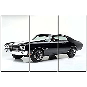 Classic Cars print on canvas car canvas prints car canvas designs 3 panel  sc 1 st  Amazon.com & Amazon.com: Classic Cars print on canvas car canvas prints car ...