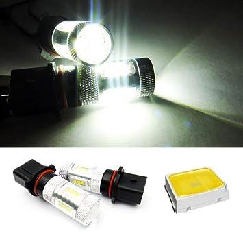 2 bombillas LED blancas P13W para Samsung luz de circulación diurna, DRL, lámpara de niebla para A4 B8 Q5 Sportage CX-5 Leaf 508 Yeti: Amazon.es: Coche y ...