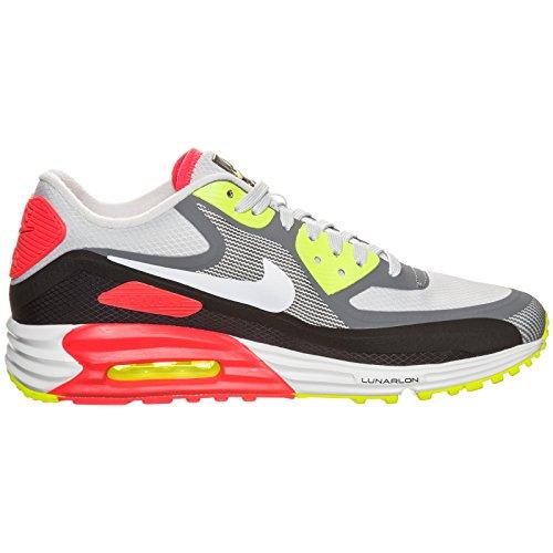 Nike Air Max Lunar90 WR Mens Running Shoes 654471-004 Light Ash Grey Grey-White-Black-Laser Crimson 10 M US