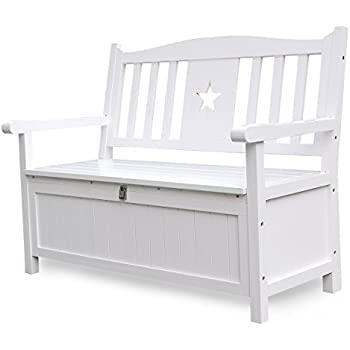 Superior This Item Songsen 4 Feet Wooden Storage Bench With Arm And Back Garden Storage  Bench Chest Indoor Shoe Cabinet Chair, White