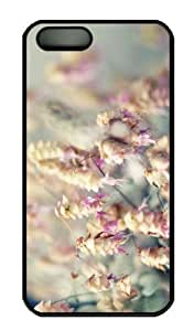 Case For Iphone 5/5S Cover CaCustomized Unique Design Wild Flowers New Fashion PC Black Hard
