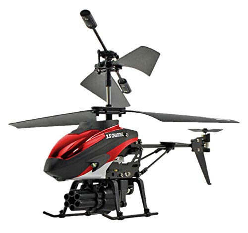 Vertily 3.5CH Helicopter RC Drone Remote Control Missile Aircraft Model Toy Colorful Lights Double Motor Toys Airplane for Kids and Adult Gift