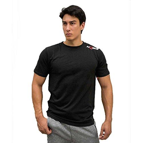 POSS Men's Comfort Short Sleeve T-shirts Lifestyle T-shirt, Black, X-Large