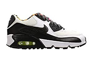 upc 883418169879 product image for Nike Air Max 90 Mesh (GS) Sneaker White Black Youth Size 6.5 Y | barcodespider.com