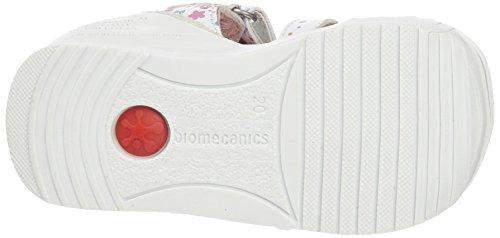 Biomecanics 162135-B - Sandalias para niñas Blanco / Estampado Flores (Sauvage)