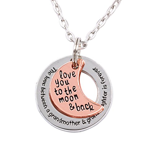 LParkin The Love Between Grandmother and Granddaughter Is Forever Necklace (alloy) (Grandma 1 Gifts)