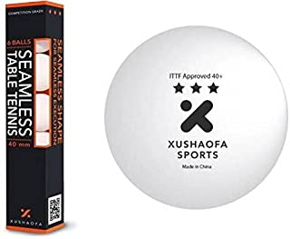 XUSHAOFA 3* PLASTIQUE ITTF - 6 BALLES TENNIS DE TABLE