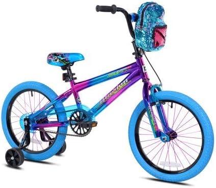 Genesis Bicicleta con Mochila para niñas con ilusión Morada ...