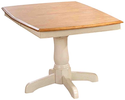 Iconic Furniture Boat Shape Dining Table, 36 x 48 x 60 , Antiqued Caramel Biscotti Finish