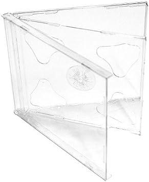 Vision Media - Caja doble de CD (5 unidades, lomo de 10,4 mm ...