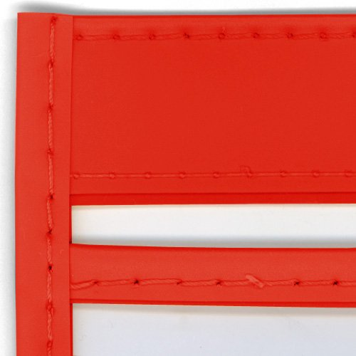 StoreSMART - Rigid Sewn Vinyl Plastic Pockets - Red - 50 pack - 9 x 12 inches - Open Long Side - T85205L-R50