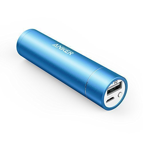Anker PowerCore+ mini 3350mAh Lipstick-Sized Portable Charger (3rd Generation, Premium Aluminum Power Bank) One of the Most Compact External Batteries, Uses Premium Cells(Blue)