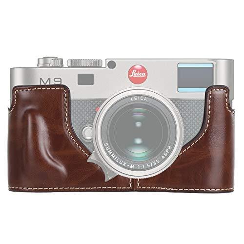 HyxppthiAAccessory Hyx 1/4 inch Thread PU Leather Camera Half Case Base for Leica M9 (Black) Camera Bag& case (Color : Coffee)