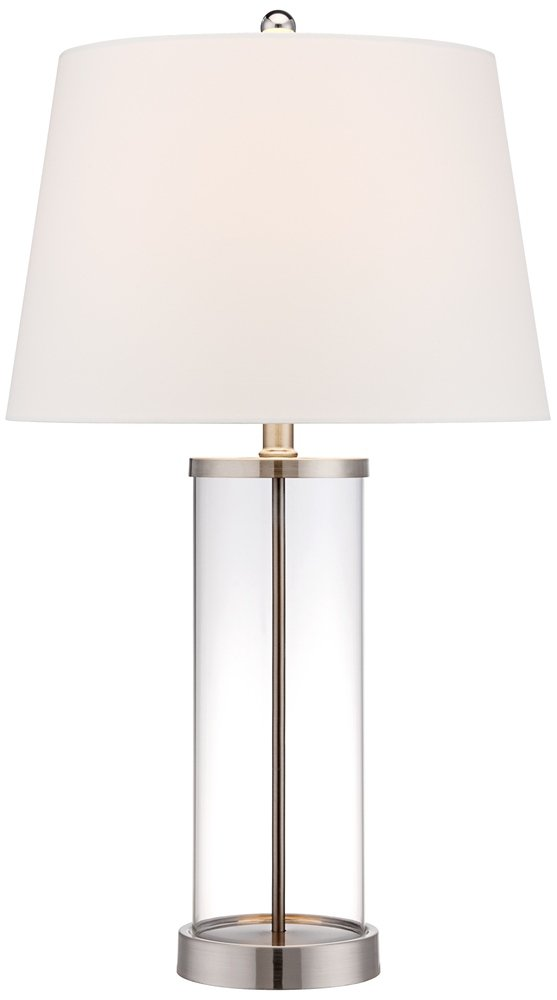 Glass and steel cylinder fillable table lamp lamps with a glass and steel cylinder fillable table lamp lamps with a fillable base amazon aloadofball Image collections