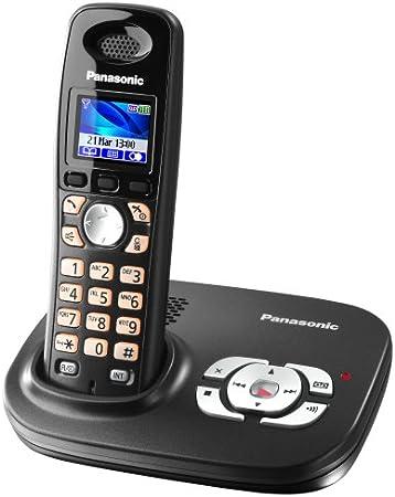 Panasonic KX-TG8021GT DECT - Teléfono inalámbrico con contestador automático, color negro [Importado de Alemania]: Amazon.es: Electrónica