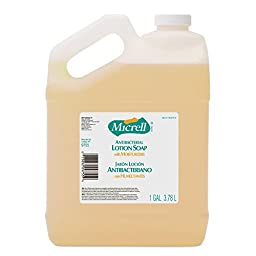 GOJO 9755-04 MICRELL Antibacterial Lotion Soap, 1 Gallon Bottle (Pack of 4)