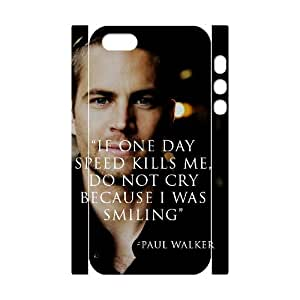 DDOUGS Paul Walker Dropship Cell Phone Case for Iphone 5,5S, Personalised Iphone 5,5S Case
