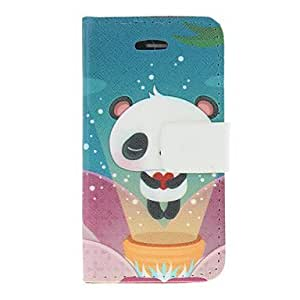 Lovely Panda Pattern PU Leather Full Body Case For iPhone 4/4S