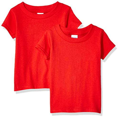 Gildan Kids Toddler T-Shirt, 2-Pack, Red 2T