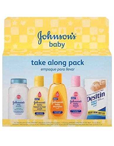 Johnson's Baby Take Along Pack (Powder, Wash, Shampoo, Lotion & Desitin Cream)