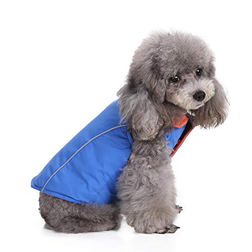 (Cozy Reversible Cold Weather Dog Warm Coat, Windproof Pet Winter Vest Jacket, Adjustable Dog Winter Apparel Warm Clothes, Cold Weather Dog Jackets for Small Medium Pets Dogs )