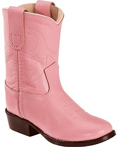 Old West Toddler-Girls' Cowboy Boot Pink 6.5 D(M) US (Toddler Pink Cowboy Boots)