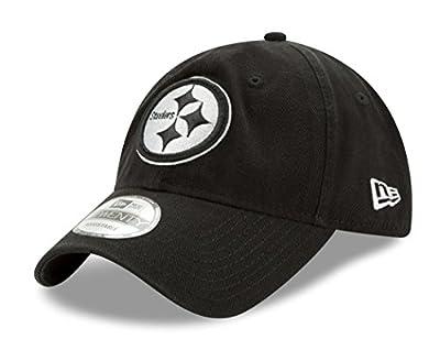 Pittsburgh Steelers New Era NFL 9Twenty Twill Core Classic Adjustable Black Hat from New Era