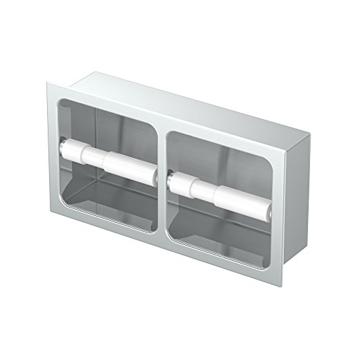 Gatco 782A Double Recessed Tissue Holder Chrome Doube Recessed Tissue Holder by Gatco