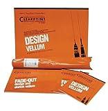 Clearprint 1020H Design Vellum Sheets, 20 lb., 100% Cotton, 18 x 24 Inches, 100 Sheets Per Pack, Translucent White, 1 Each (12201522)