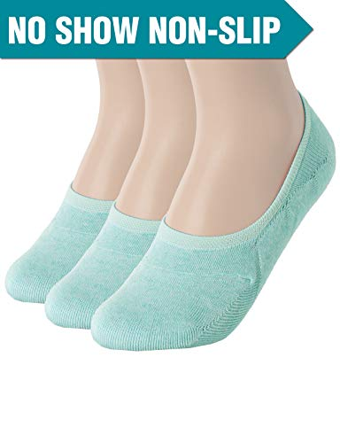 - OSABASA Womens Casual No-Show 3Pairs Socks of Various Pastel Colors BLUEGREEN M (SET3KWMS058)